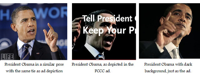 Obama depiction in PCCC ad
