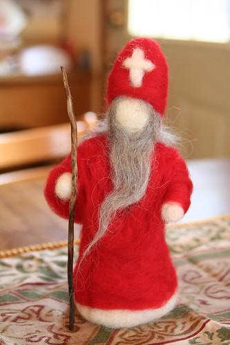 Needle-Felted Saint Nicholas