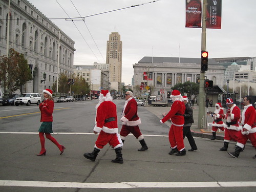 crossing santas