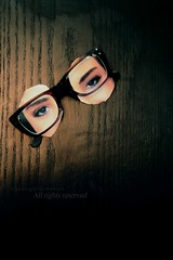 "!  "" ""       ! . (NOURA - alshaya ) Tags: light eye glasses words eyes flickr december d 500 language  2010  consideration                                nouero"
