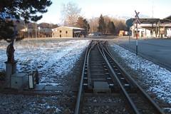 Mixed-gauge Track (Kecko) Tags: railroad switch schweiz switzerland europe track suisse swiss kecko eisenbahn railway sbb gr svizzera bahn 2010 schienen rhb graubünden rhätischebahn rhaetian weiche graubuenden untervaz trimmis swissphoto rheintalbild