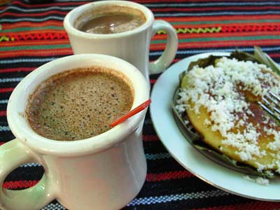 hot choco and bibingka