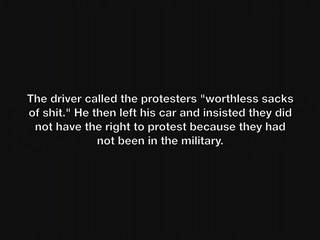 Soldier Counters Anti-Torture Vigil