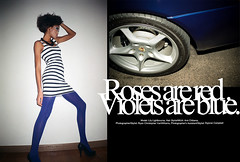 Roses are red. Violets are blue. - Lily L. (Ryan Christopher VanWilliams - NYC) Tags: nyc newyorkcity blue roses white ny newyork black art film wheel sport contrast analog digital 35mm canon silver studio gold diptych artist december fuji graphic minolta stripes text flash 911 olympus turbo porsche agency heels editorial violets brake bermuda hm rim visual lillian strobe carrera 2010 caliper apm burmuda rosesareredvioletsareblue vanwilliams strobist ryanchristophervanwilliams rcvw dyjonaicampbell apmmodels lilylightbourne lilylightborn lillianlightbourne amichibana 2004porsche911turbocoup lillianlightbourn