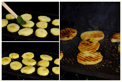 Grilled Honey, Lemon & Rosemary Potatoes