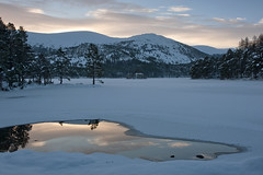 Loch an Eilein winter sunrise (Margaret J Walker) Tags: winter reflection sunrise scotland cairngorms lochaneilein rothiemurchusestate