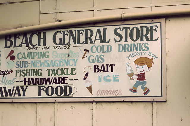 Kiola General Store sign, Photo by Kirbee Lawler