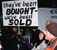 Dail Protest 7.12.10 Pic (6) (Anthony Cronin) Tags: ireland analog superia protest protests  protestors c41 irelanddublin bailout fuji irishlife street photography march crisis 200 dublinlife protest bank irish faces dublinirish protest streetsdublin dublinliving tpastreet dublinirelandnikonf8050mmf14d24mmf28danthonycroninanalogapug35mmfilmallrightsreservedirishphotographystreetsdublinstreetphotographystreetsofdublin antigovernment antieu antiimf irelands bailout 71210budget2010 photangoirl