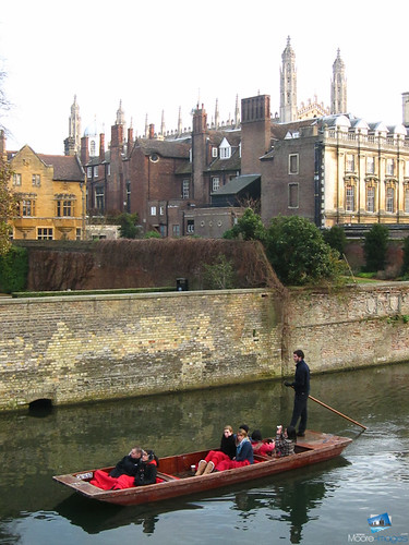 Punting along the river
