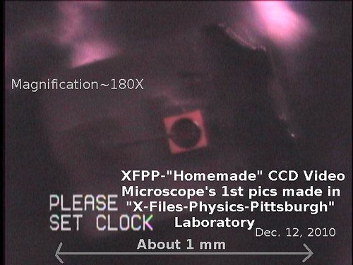 Homemade CCD Video XFPP Microscope's first pictures