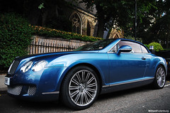 Bentley Continental GTC Speed (Willem Rodenburg) Tags: 3 colour london church car speed photoshop nikon united picasa continental convertible special bleu british 1855 gt luxe bentley willem w12 londen roadster cabriolet lightroom bespoke gtc sportcar d40 kingom rodenburg luxerious exclusieve
