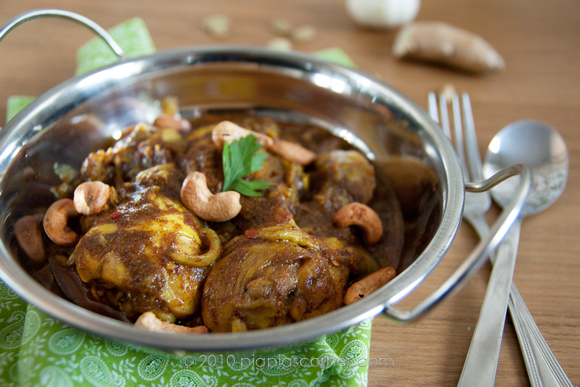 Cardamom and Ginger Chicken with Cashews