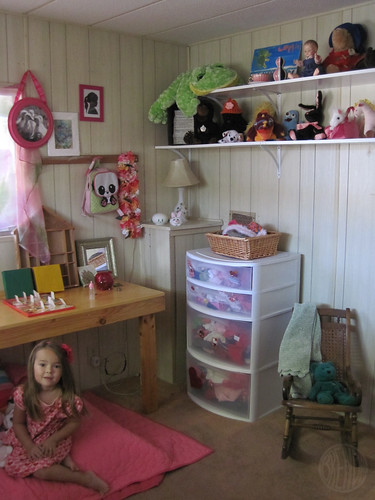 ugly plastic dresser and nap zone