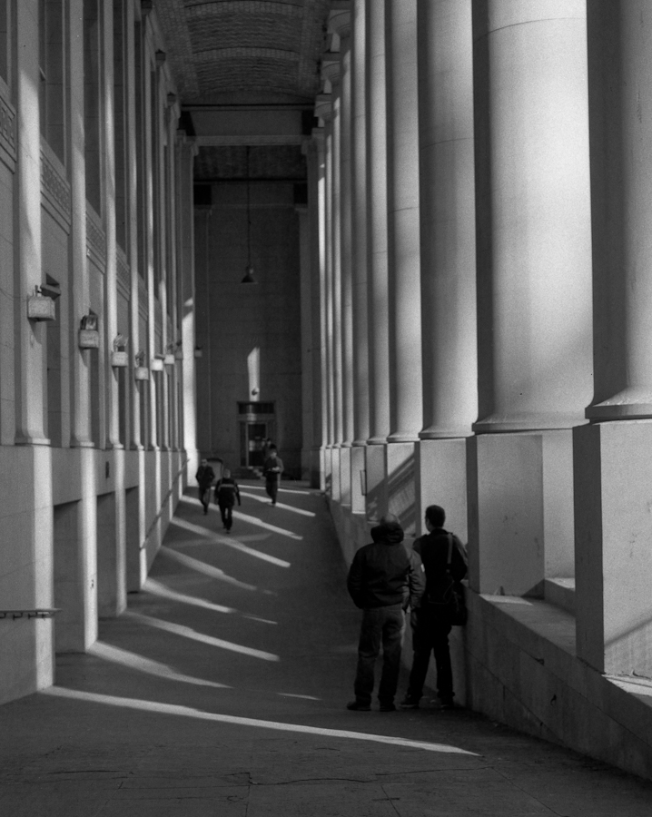 Behind The Columns