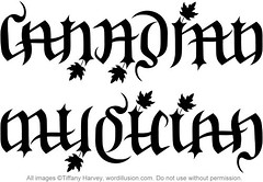 """Canadian"" & ""Musician"" Ambigram"