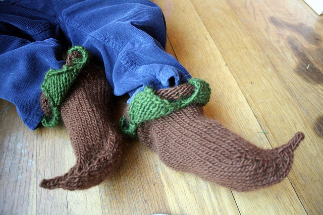unfelted elf slippers