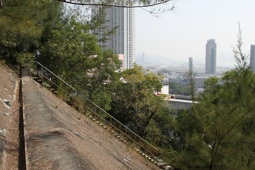 Slope above Kowloon Tsai Park, looking down towards Kai Tak Runway 13