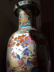 100_4530 (ForestPath) Tags: colorful shadows vase oriental decorated deepshadows sunlght
