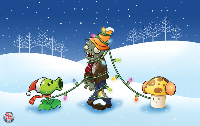 Plants vs. Zombies Winter Wallpaper 2