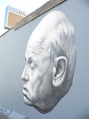 Pensare - il muro (Taniffe) Tags: berlin muro wall europa europe uomo murales visage berlino faccia dipinti