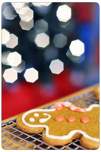 gingerbread man bokeh
