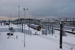Train in Snow (milolovitch69) Tags: winter snow railway 2010 hornsey traindepot