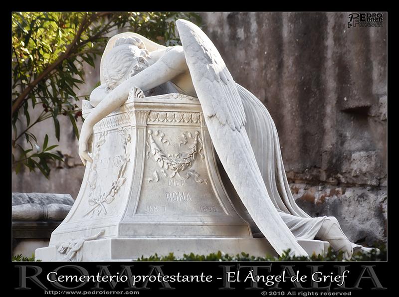 Roma - Cementerio protestante - El Ángel de Grief
