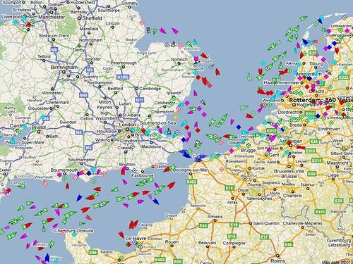 Tráfico marino (marinetraffic.com)