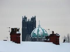 A St Helens Skyline (LivingOS) Tags: snow church sthelens
