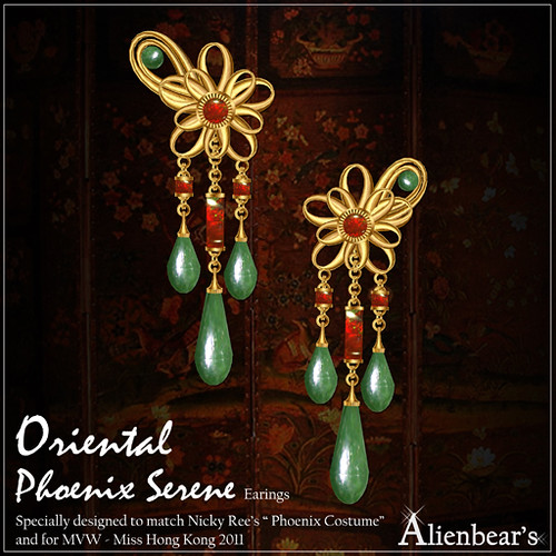 Phoenix Serene earrings red