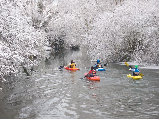kayaks on the Cam