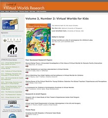Volume 3, Number 2: Virtual Worlds for Kids