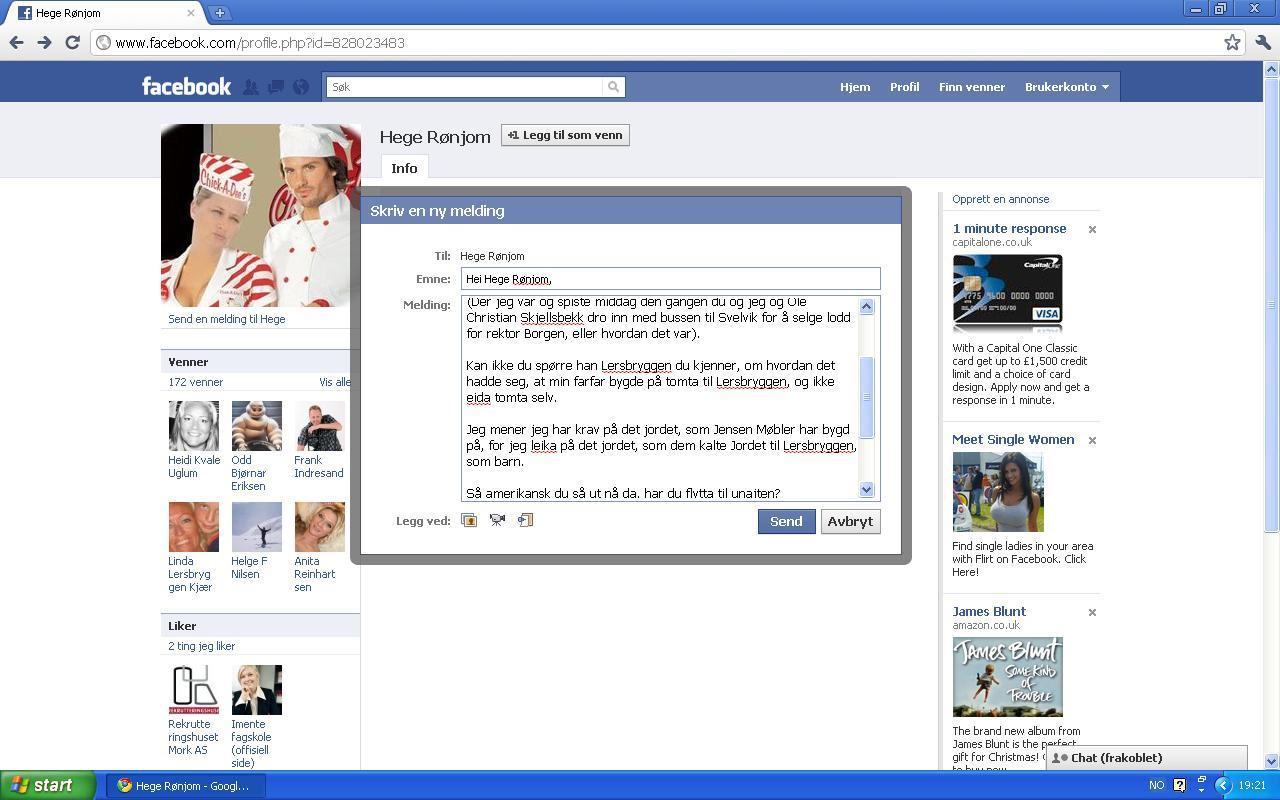 facebook melding hege rønjom