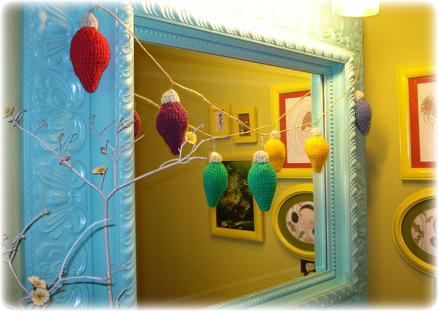 Crocheted Vintage Christmas Bulb Ornaments