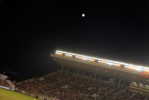 キンチョウスタジアムの月@セレッソ大阪 VS 横浜マリノス