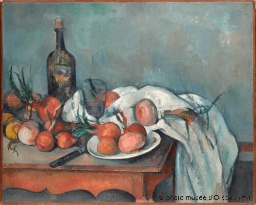 Nature morte aux oignons, Paul Cézanne, 1896-1898