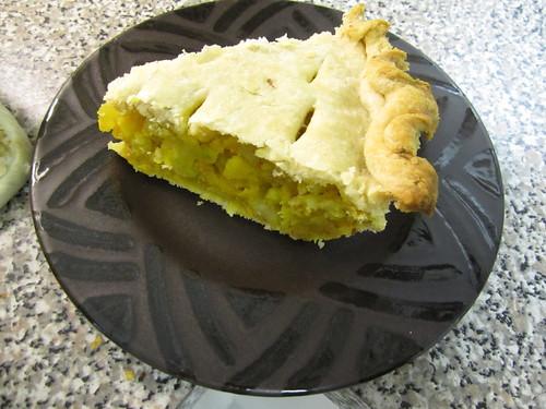 Finished samosa pie