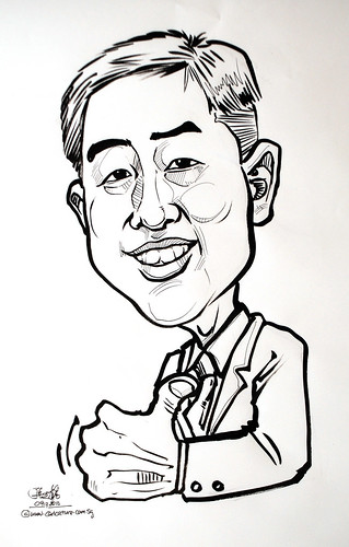 guy caricature in ink and brush 091210