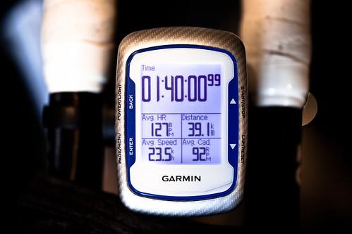 100min ave23.5 39.1km インナー5メイン終盤6 心拍130以下