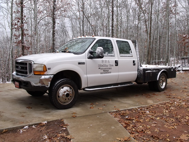 white snow ford 4x4 diesel cab duty super 1999 crew 73 flatbed xlt f550 dually powerstroke