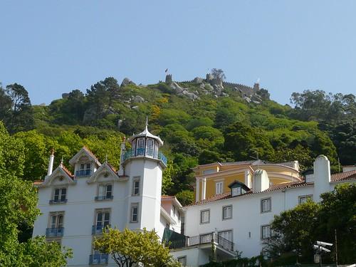 Le château des Maures vu depuis Sintra