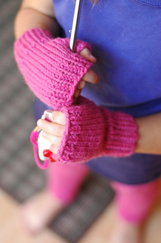 Kids Fingerless Mitts