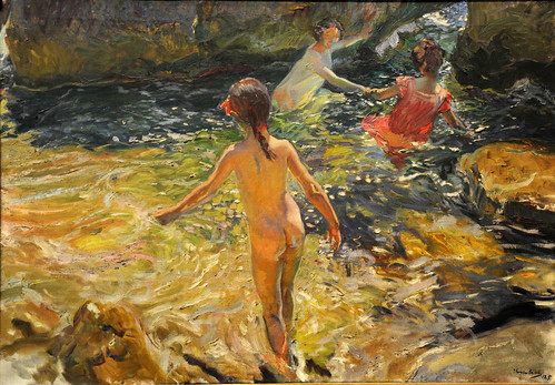 The Bath, Jávea Joaquín Sorolla y Bastida (Spanish, 1863–1923) 1905, MET, NYC