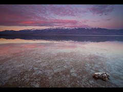 Lake Badwater - Badwater Salt Flats - Death Valley National Park - California (D Breezy - davidthompsonphotography.com) Tags: california winter lake snow mountains water clouds sunrise canon reflections landscape desert mud salt deathvalley saltflats 1111 mojavedesert badwater rainboots deathvalleynationalpark telescopepeak belowsealevel 1740f4l manonthemoon dvnp 1740mml singhrayfilter 5dmarkii 3stopreversegnd