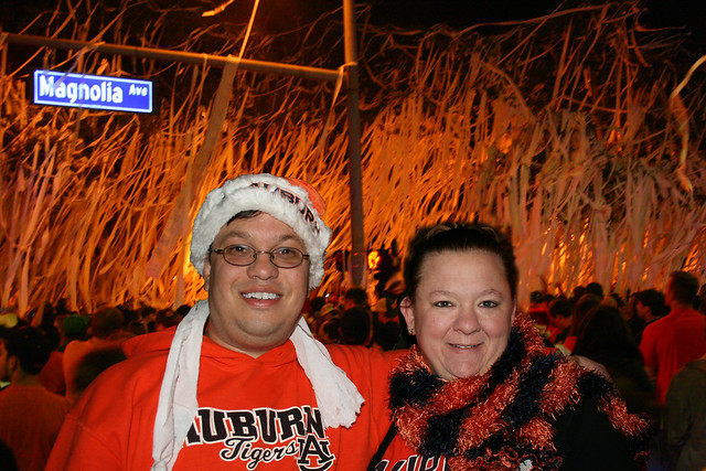 Celebrating at Toomer's after winning the SEC