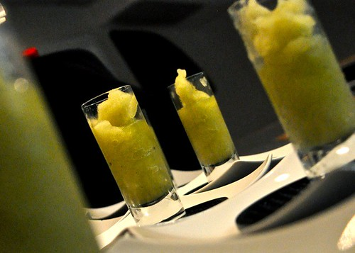 NYE palate cleanser: honeydew melon, mint & jalapeño granita