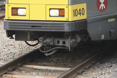 Swing away coupler at the front of Phase 1 LRV 1040: all LRV units have the same arrangement