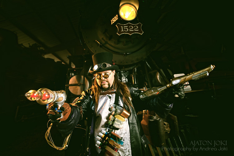 steampunk fashion shoot with artist Joshua Hart