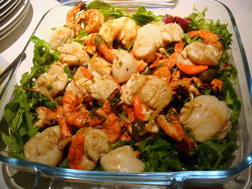 Barbecued King Prawn and Scallop Salad