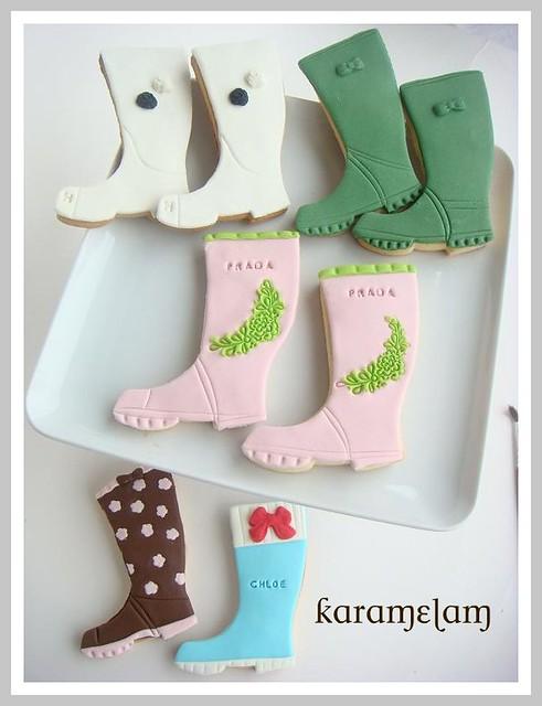 rain boots cookies
